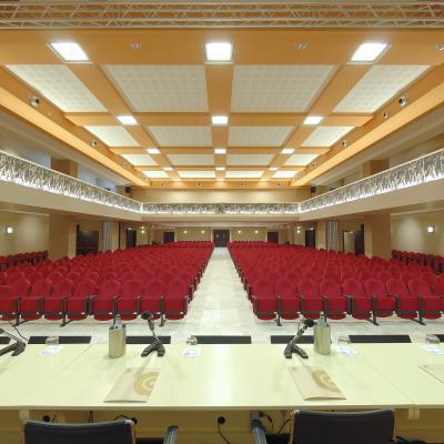 """Foto auditorium dove si terrà il Workshop b2b con buyer provenienti dall'europa , verrà opportunamente allestita per gli incontri """"One to One"""""""