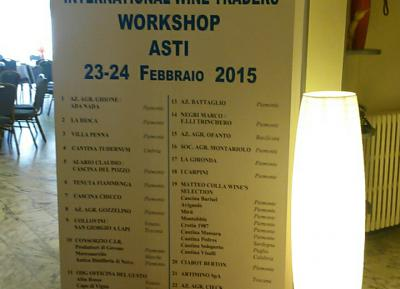 Workshop International Wine Traders Asti 23 e 24 Febbraio 2015